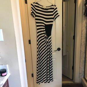 Striped maxi dress.. floor length.